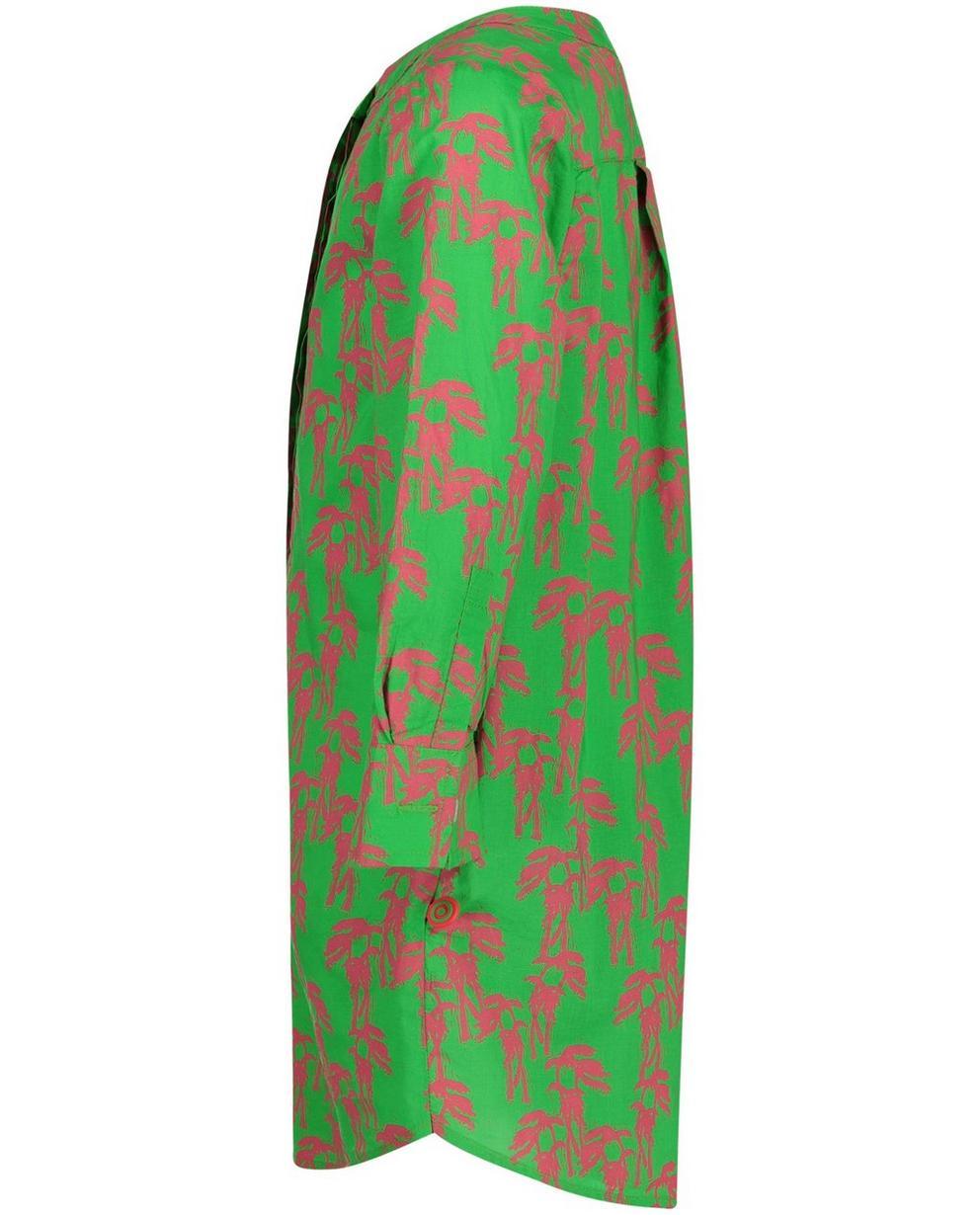 Jurken - GNF - Grasgroene hemdjurk